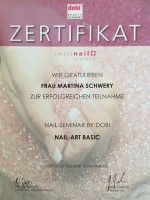 "Zertifikat: dobi Beauty Academy Seminar ""Nail-Art Basic"""
