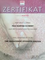 "Zertifikat: dobi Beauty Academy ""Time-management"""